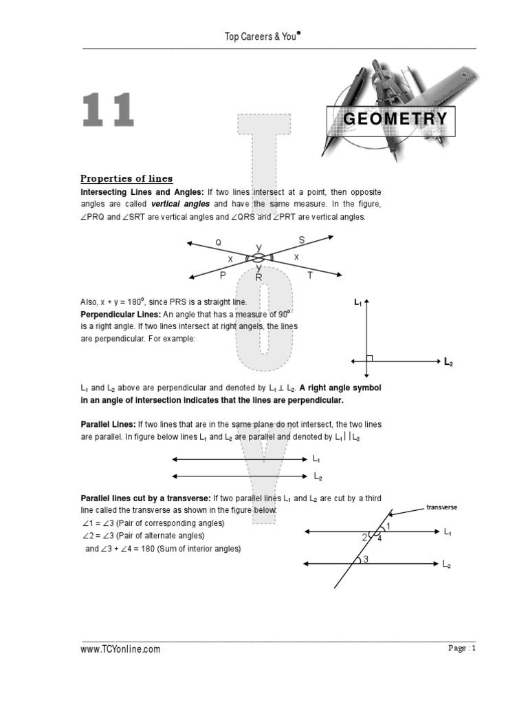Geometry 1 2 Triangle Circle