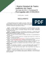 Regulamento META 2011