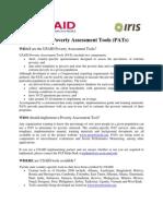 USAID PAT Description
