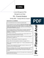 P8 – Financial Analysis