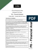 P8 – Financial Analysis