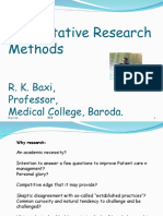 Quantitative Research Methods in Medicine - Dr. Baxi