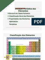 Tabela periódica e suas propriedades