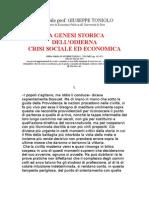 Giuseppe Toniolo - La genesi storica della odierna crisi economica