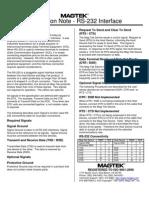 RS-232 Data Sheet