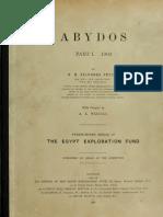 FLINDERS PETRIE, ABYDOS