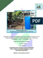 Iniforme Final Microproyectos Cosecha de Agua