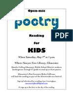 Elementary School Poetry Reading