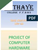 Sathaye College,Fybms