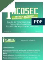 Estudio de Violencia Interpersonal y Percepción Ciudadana de la Situación de Seguridad en Venezuela