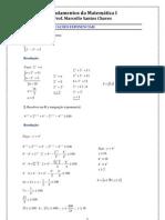 Profº. Marcello Santos Chaves - Equações e Inequações Exponenciais (Exercícios Resolvidos)