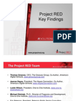 Project RED Key Findings