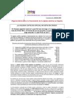 Financiación de la iglesia católica en España
