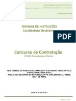 Manual de Instruções – Candidatura Electrónica  DN; 2011.abr.25