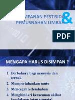 Penyimpanan Pestisida Dan Pemusnahan Limbah