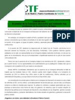 ACTF denuncia plantón ante el Consejo Escolar de Canarias