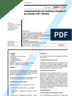 NBR 11174 NB 1264 - to de Residuos Classes II - Nao Inertes e III - Inertes