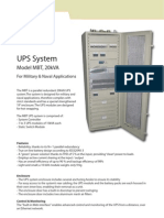UPS System for Military and Naval Applications