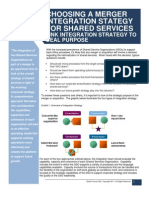Choosing a Merger Integration Strategy for Shared Services