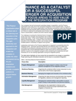 Finance as a Catalyst for a Successful Merger or Acquisition