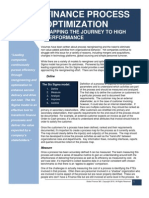 Finance Process Optimization - Mapping the Journey to High Performance