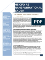The CFO as Transformational Leader