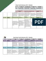 SAYC 2011 Schedule