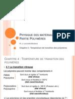 Transition des polymères