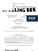 The 25th Annual Putnam County Spelling Bee Score