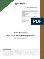 Emerging Banks Methodology