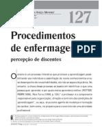 Artigo 01 - Procedimentos de Enfermagem - Percepção de Discentes