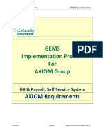 Axiom Requirements