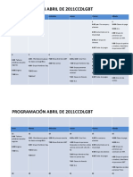 programacion ABRIL  2011
