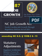 First Public RELEASE of HB587 Jobs Bill Presenttion