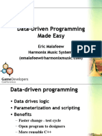 Data Driven Programming Made Easy