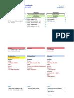 Calendario y sedes de competiciones FEDS 2011