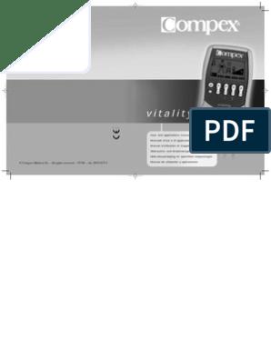 collection entière vente pas cher modèle unique Manual Compex Vitality | Chargeur (électricité) | Pile ...