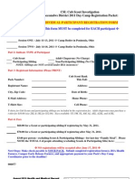 2011 Moe Cub Scout Day Camp - Individual Registration Form & Medical