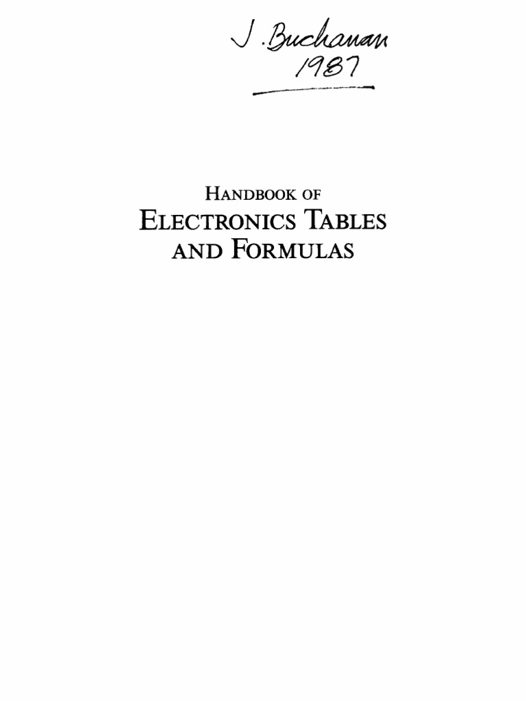 Handbook Of Electronics Tables And Formulas Capacitor Series Rc Circuit Besides Inductive Reactance Capacitive Parallel Circuits
