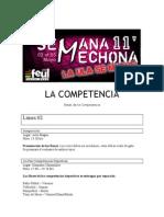 La competencia - Bases - Semana Mechona 2011