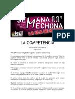 La competencia - Bases Competencias Deportivas - Semana Mechona 2011