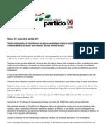 Confer en CIA de Prensa Humberto Moreira Lunes 25 de Abril 2011 Version Estenogrfica