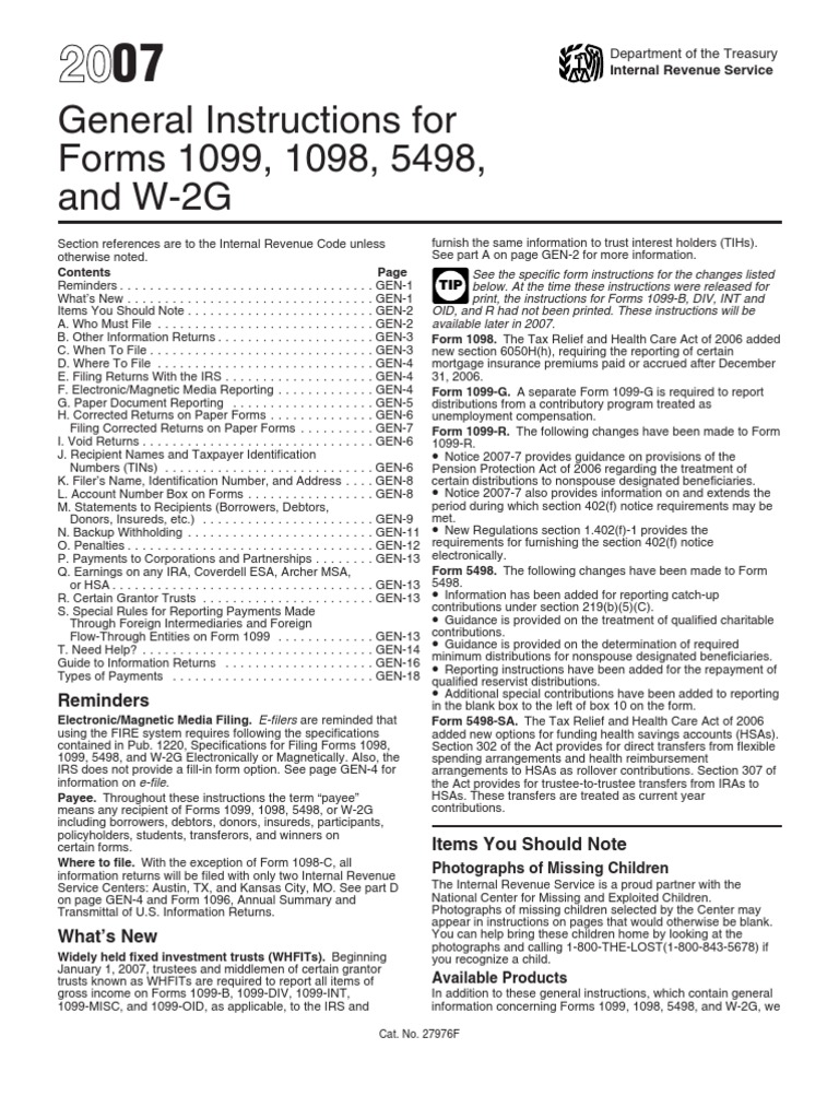 US Internal Revenue Service: i1099gi   Irs Tax Forms   Withholding Tax