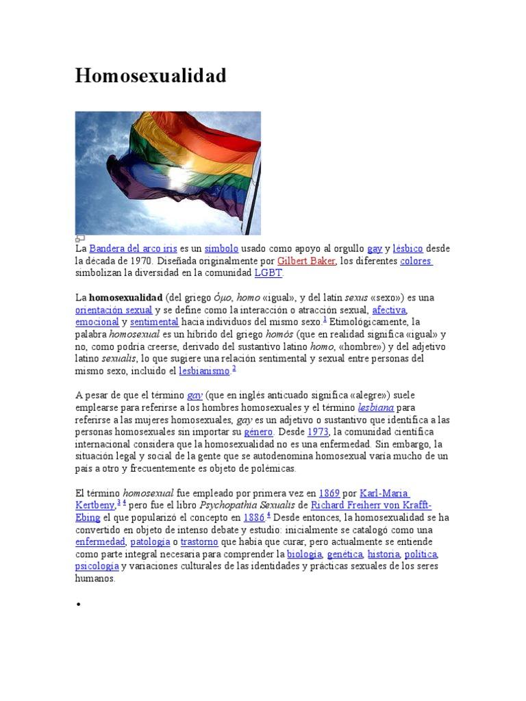 Personas con orientacion homosexual relationship
