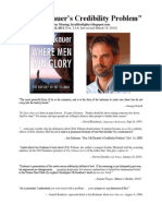 """Jon Krakauer's Credibility Problem"" (Ver. 2.4.6)  April 24, 2011; Last Updated 3-20-14"