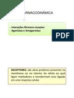 Aula 3 - Farmacodinâmica - Tipos de receptores- Agonistas e antagonistas