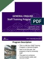 BINUS Staff Training 2011 - General English