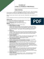 Panduan Sistematika & Format Proposal