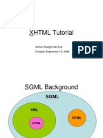 XHTML Tutorial