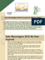 Bloomington Solar Tour
